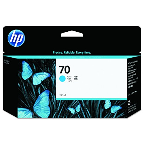 HP 70 Cyan Original Tintenpatrone, 130 ml (Hp Designjet 70)