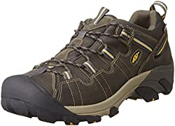 KEEN Mens Targhee II Hiking Shoe, Raven/Tawny Olive, 12 M US