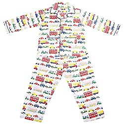 Malvina Assorted Printed And Color Cotton Full Sleeves Night Suit for Kids (2-3yrs)