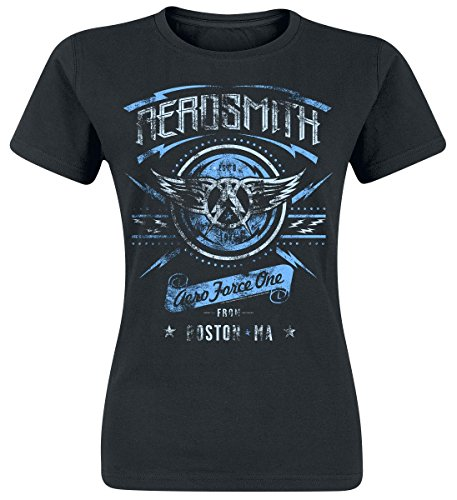 Aerosmith Aero Force One Camiseta Mujer Negro L