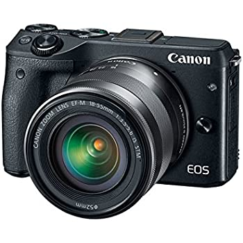 Canon EOS M3 (Black) with EF-M 18-55mm IS STM Lens Kit