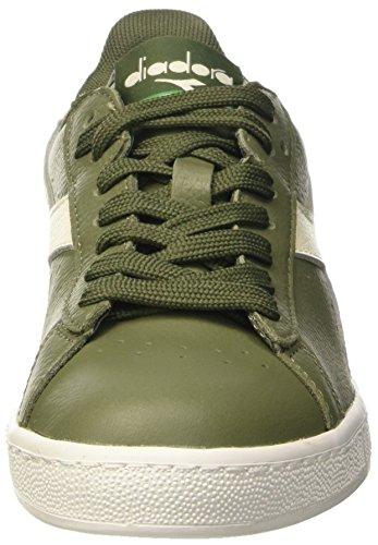Diadora Game L Low Waxed, Pompes à plateforme plate mixte adulte Verde (Verde Olivina/Bco/Vrd Olivina)