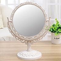 Comparador de precios Espejo de belleza Espejo de maquillaje Ampliación Espejo de cosmética Espejo de mesa Espejo retro europeo Espejo de doble cara Espejo de pluma portátil Espejo plegable, Nano-Color, 20.5 × 25.5Cm - precios baratos