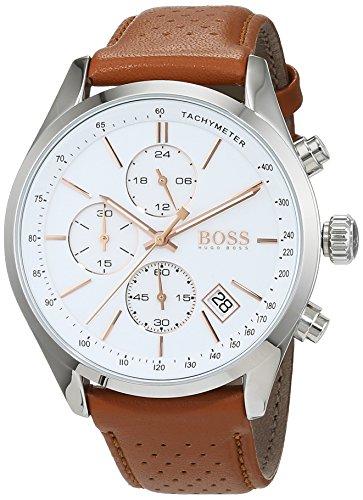 Hugo BOSS Herren-Armbanduhr 1513475 (Hugo Boss Leder Braun)