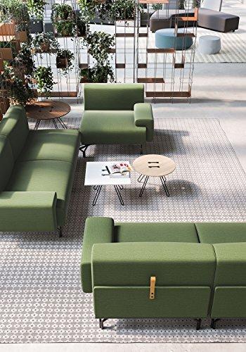 L'aquila design arredamenti casamania divano summit in tessuto 3 posti sfoderabile e snodabile colore verde