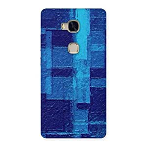 Impressive Premier Blue Pattern Back Case Cover for Huawei Honor 5X
