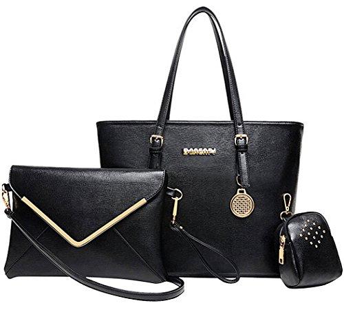 Damen Handtaschen, Coofit Schultertasche Set Hobo mit Crossbody Messenger Bags und kleinen Geldbeutel (Damen Casual Tasche)
