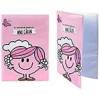 Monsieur Madame/Mr. Men & Little MissMadame Câlin/Miss Abrazo-Funda para cartilla sanitaria, diseño de Madama Câlin (versión francesa), color rosa