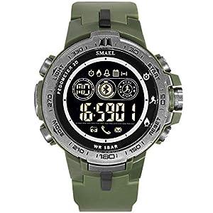 Bluetooth Sport Fitness Tracker Uhren Analog-digital Smartwatch Military mit Bluetooth-LED-Anzeige und Call Calorie Digitaluhren Armbanduhr Watch Quarz Uhr DIKHBJWQ für Herren Damen