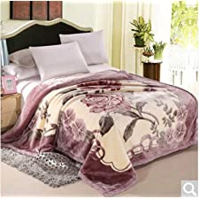 BDUK Double-Thick Raschel komprimieren Decke Studenten und Betten mit warmen Winter romantische Hochzeit Decken Decken ,Z,150*200cm/5 Catty