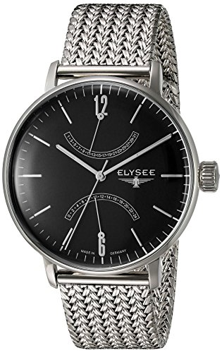 ELYSEE Made in Germany Sithon 13276M 42mm Silver Steel Bracelet & Case Mineral Men's Watch