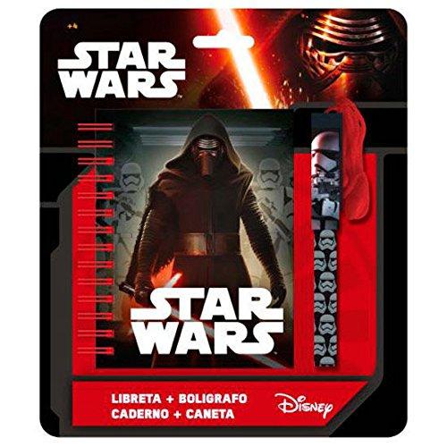 Star Wars - Set de papelería de Kylo REN (Incluye libretita y bolígrafo)