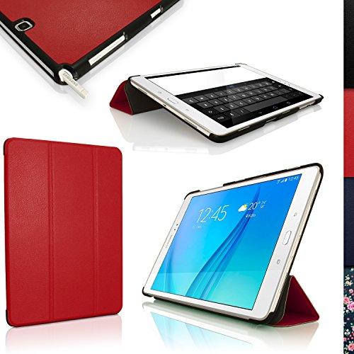 igadgitz Rot PU Ledertasche Hülle Smart Cover für Samsung Galaxy Tab A 9.7