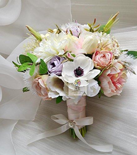 yxhflo Fiore di emulazione di L' arte di fiore di Matrimonio Bouquet Di Rose Di Pigmento di hengchun Chest Flower
