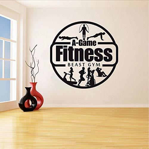 ndtattoos Gym Work Out Mädchen Motivation Crossfit Log Kunst Vinyl Aufkleber Schlafzimmer Dekor Wohnzimmer Gym Studio 57 * 57 Cm ()