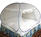 #2: Healthy Sleeping Foldable Polyester Double Bed Mosquito Net - Embroidery (White)