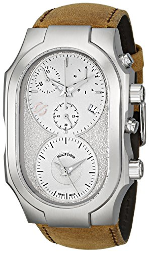 Philip Stein Men's 300-SLG-CASTM Swiss Signature Analog Display Swiss Quartz Brown Watch