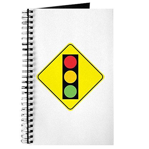 CafePress–Signal Ahead–Spiralbindung Journal Notebook, persönliches Tagebuch, Dot Grid (Ein T-shirt Gefahr, Die Schwarzes)