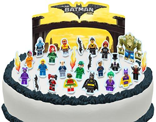 Cakeshop Vorgeschnittene und Essbare Lego Batman Movie Szene Kuchen Topper (Tortenaufleger, Bedruckte Oblaten, Oblatenaufleger) (Topper Kuchen Batman)