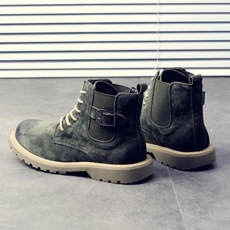 HL-PYL-Martin botas zapatos altos hombres botas para coreano,41,verde mate  -