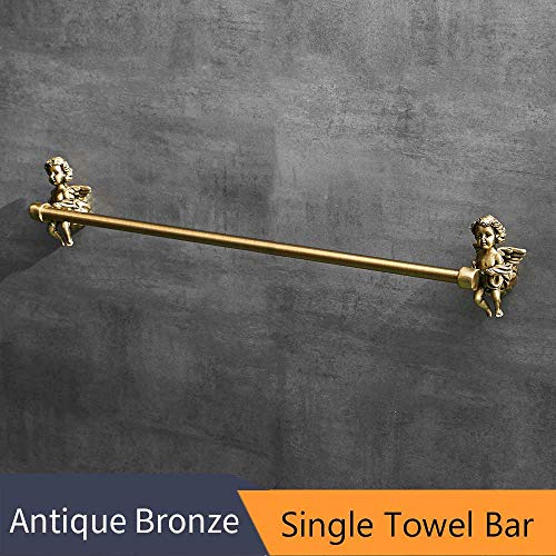 Classic-serie-mantel (S-Senrohy Bronze Farbe Handtuchhaken Mantel Kleiderbügel Tür Rack Classic Angel Home Deco Wandhalterung Bad Single Towel Bar)