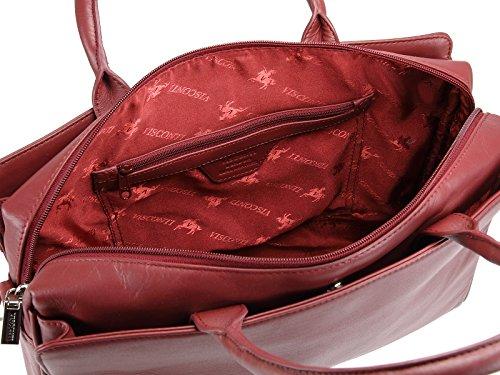 Mallette de rangement pour sac à main en cuir Sac à bandoulière pour femme Par Visconti (18562) - rouge