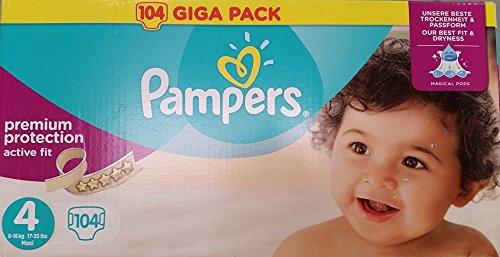 Preisvergleich Produktbild Pampers Active Fit Größe 4 Maxi 7-18kg Giga Pack, 2er Pack (2 x 104 Windeln)