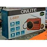 Onlite by dealsIndia Sm51/52 FM Radio with SD USB AUX Slots