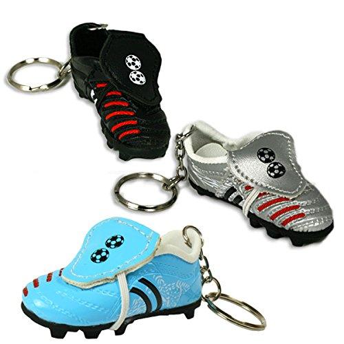 Preisvergleich Produktbild Fussballschuh Schlüsselanhänger, Fanartikel Mitgebsel für Fußballgeburtstag Kinder