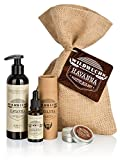 Premium Bartpflege Set HAVANNA von Wildwuchs Bartpflege mit Bartöl, Bartwachs, Bartshampoo als komplettes Bartpflegeset Männer Geschenk (3-teilig)