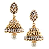 Jhumkas earrings for girls pearls jhumka...