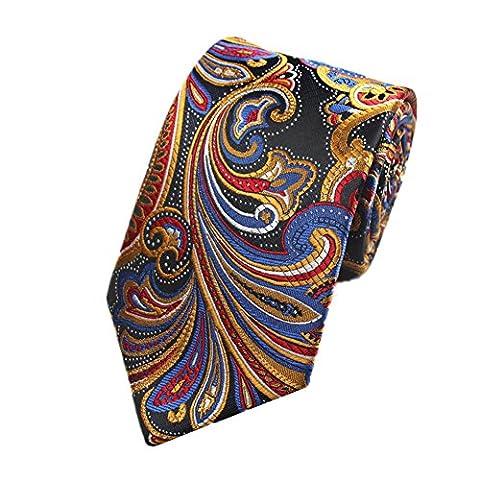 Z-P Mens Color Floral Luxury Elegant Necktie Knit Woven Jacquard Skinny Tie