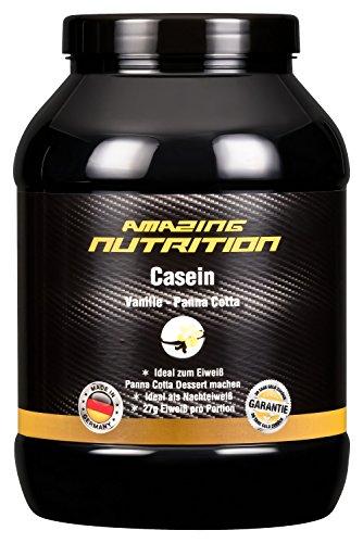 Casein Micellar Protein Pulver - Eiweiß für day & night da es eine langanhaltende Wirkung hat - ideal für die Diät - Schmeckt auch als Dessert (Vanille - Panna Cotta, 750g) -