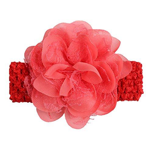 Baby Mädchen Haarband Elastic Chiffon Spitze Blume Prinzessin Haarband Colorful Neugeborene Baby Elastic Haar Zubehör