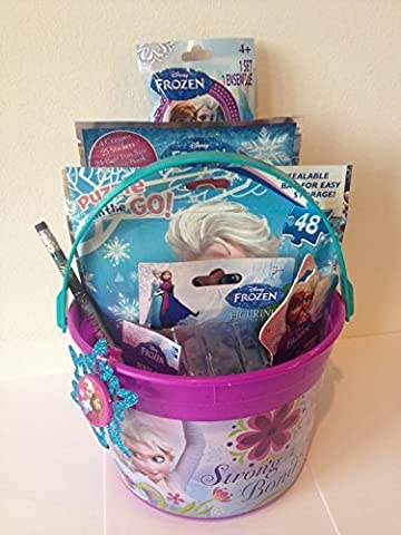Disney Frozen Princess Elsa & Anna Bucket of Fun Set Perfect for Easter Basket, Birthday Gift, or any other Special Occassion by Disney