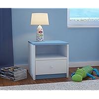 Preisvergleich für CARELLIA Nachttisch Kinder 1Schublade L: 40cm x P: 39cm x h: 30cm–blau