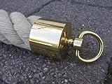 Seilendkappe avec anneau en laiton brillant pour handlaufseil 40 mm