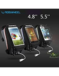 Bazaar ROSWHEEL 4.8'' tactile sac sac téléphone tube de cadre'5.5' de vélos