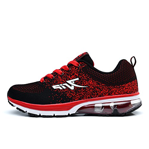 TORISKY Unisex Scarpe da Ginnastica Corsa Sportive Running Air Sneakers Casual Fitness Donna Uomo(6239-Red44)