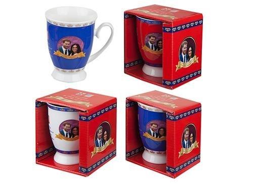 Toyland® Pack von 4-2018 Harry & Meghan Royal Hochzeit Gedenk Tulip Form Becher - Königliche Hochzeit Souvenirs (Royal Queen Elizabeth)