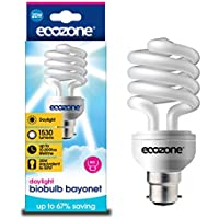 Ecozone Biobul Cap B22B, Energy-Saving Daylight Bulb, Bayonet, 20W Equivalent To 60W, 1530 Lumens, Daylight White 6500K, Uses 68% less Energy. Ideal For Suffers of S.A.D