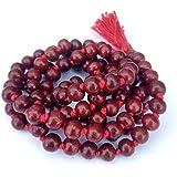 Krisah® Sandalwood/Chandan Scented Processed Wooden Mala (Red, 1)