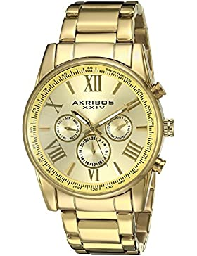 Akribos XXIV Herren-Armbanduhr Analog Quarz AK904YG