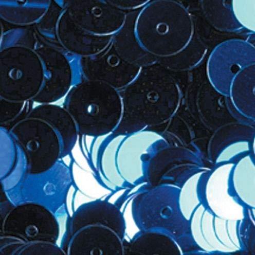 efco rund flach Pailletten, blau, 6mm, 40g, 4000-piece -