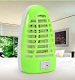CLOOM LED Elektrischer Insektenschutz mit für die Steckdose Nachtlampe Europäischer Stecker Insektenvernichter Steckdose Insektenkiller Mückenvernichter Mückenschutz Insektenlampe (Grün)