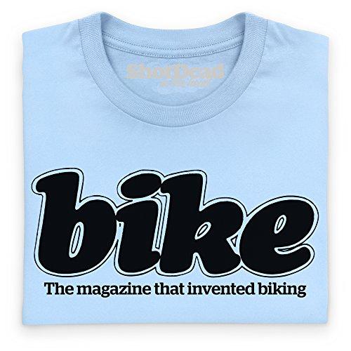 Official Bike Magazine 80s Logo T-Shirt, Herren Himmelblau