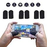Ozkak Mobile Game Sleeve Finger [Lot de 6] Gants à Doigt de Jeux Mobiles Universels pour Écran Tactile - Noir