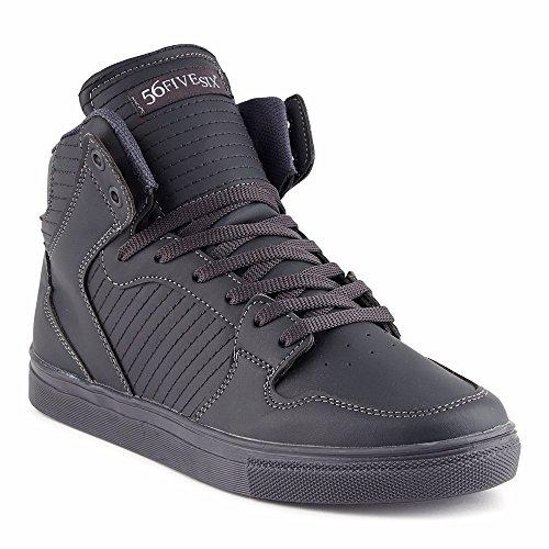 FiveSix Herren Sportschuhe High Top Sneaker Basketballschuhe Freizeitschuhe Schuhe Grau EU 43 (Herren Grau High-top-schuhe 10)