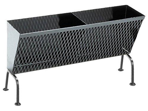 Sunday Holzkohlekorb mit Füßen, 56 x 19 x 29 cm, schwarz