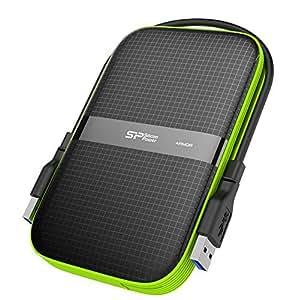"""Silicon Power SP010TBPHDA60S3K Hard Disk Esterno Portatile da da 1 TB, Armor A60 Antiurto/2.5"""", USB 3.0, Resistente all'Acqua, Grado Militare MIL-STD-810G e IPX4, Nero"""